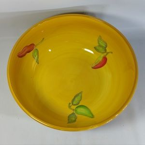 Salad Serving Bowl Southwestern Chile Pepper Large